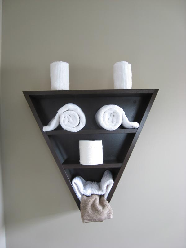 New bathroom shelf, decorated as monster face