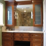 Bathroom with cherry cabinets