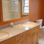 Bathroom with double sink vanity