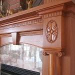Carved Mahagony Mantel