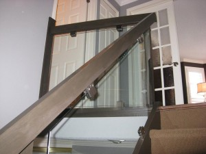 Stairs with glass panels