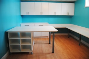 Hobby room cabinets | Sewing room