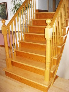 Stair maple-oak