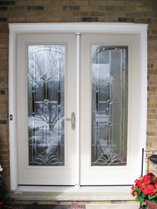 Security screen doors double front double entry security for Double storm doors for french doors