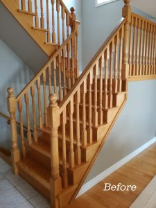 Stair remodeling by Demas Woodworx