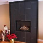 Black Tile Fireplace