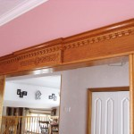 Carved Mahagony Door Header