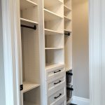 Closet organizer with drawers and baskets. Kitchener Waterloo.